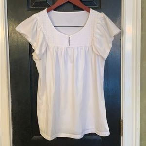 Merona white shirt sleeve shirt large